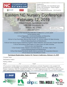 Cover photo for February 12, 2019 Eastern NC Nursery Conference Registration Available Now